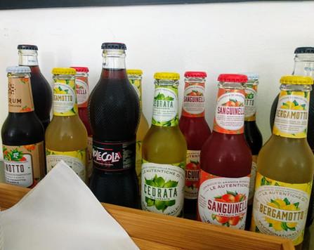 Refreshing Italian soft drinks