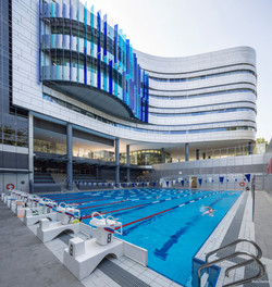 Swimming pool Italian school Singapore. Photo: SAIS