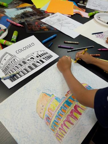 Italian art camp for kids