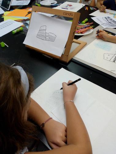 Kids drawing in Singapore