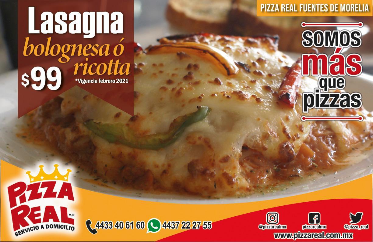Lasagna Bolognesa ó Ricotta