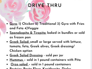 Drive Thru Mini Greek Festival! Don't waste any time!!