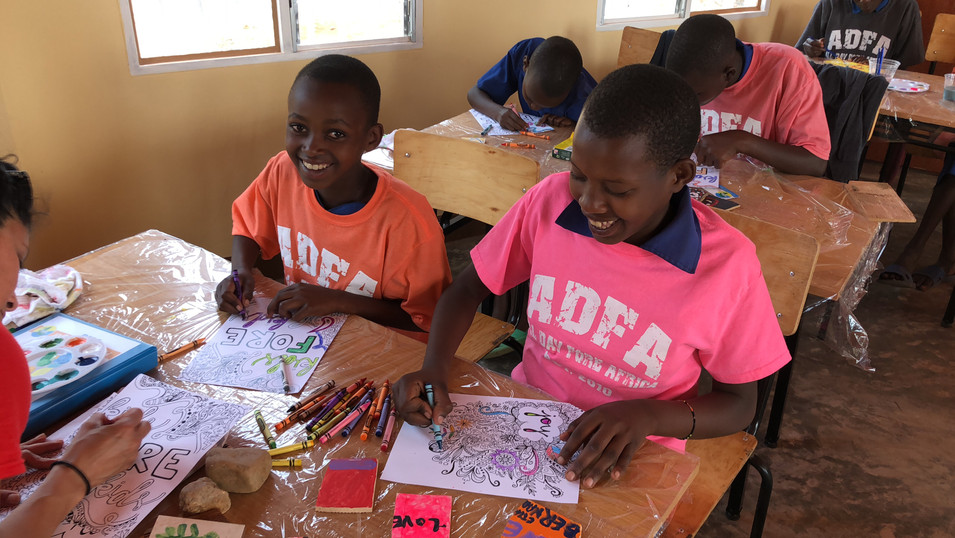 Coloring at the Children's Academy