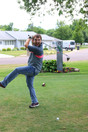Logan golfing!