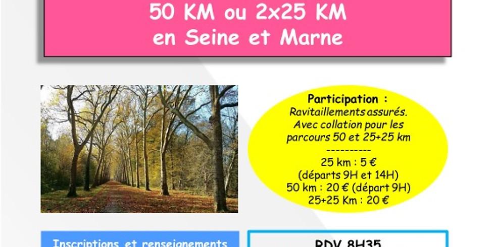 Brevet 50 km OZOIR LA FERRIERE