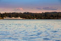 Ferry with Rainier
