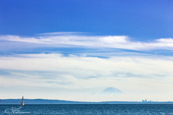 Sailboat with Seattle & Mt. Rainier