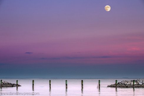 Purple Sky and Moonlight, signed, danielle w press, edgewater, maryland, annapolis, chesap