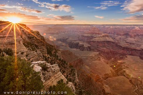 Grand Canyon Sunset arizona travel famous places scenic danielle w lundberg danipress phot