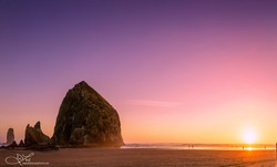 Haystack and Sunset