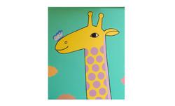 La girafe et le papillon