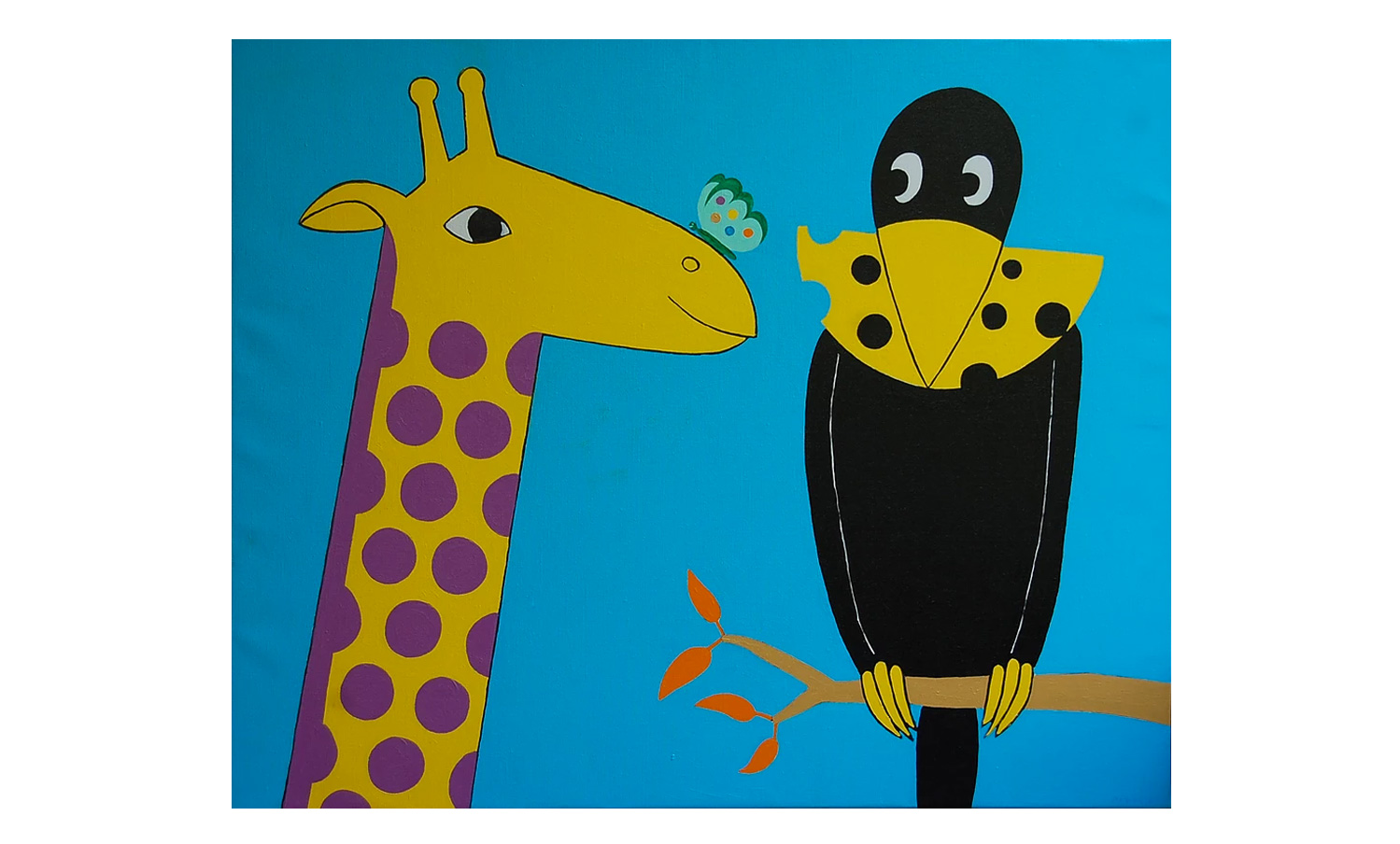 La girafe et le corbeau