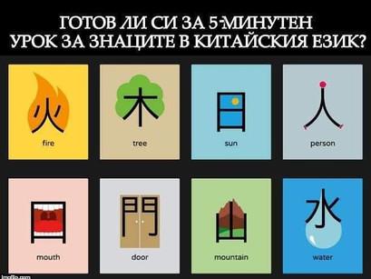 5-минутен урок за йероглифите в китайския език