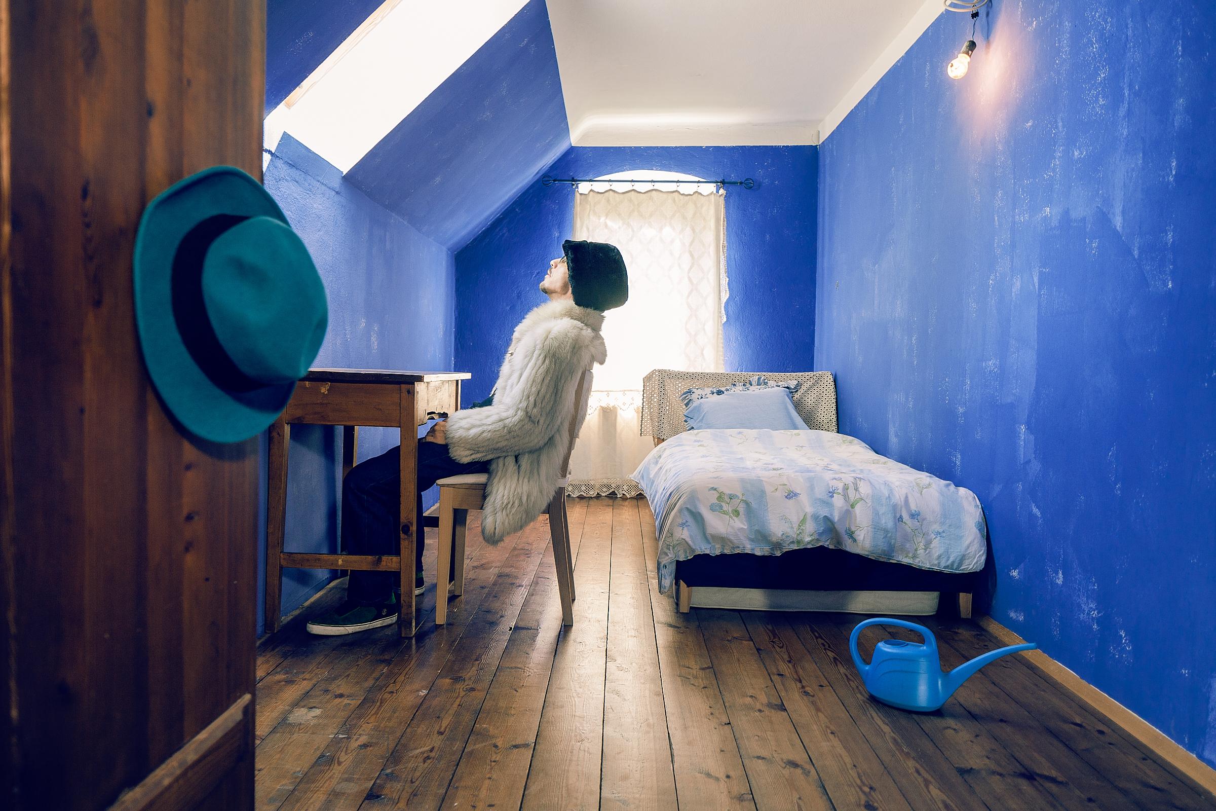 s´fotostudio by Dominik Somweber_Musician Portrait Elektroschneider Blue Room