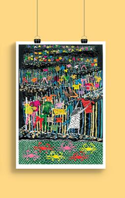 Gravura Meninos do Mangue - Coleção Roger Mello
