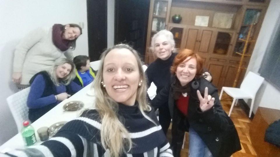 2016 ENCONTRO DO CENTRO DE LEITURA QUINDIM (Vania Espeiorin, Jaqueline Pivotto, Patrícia Alberti, Adriana Camêlo, Graziela e Arthur Canônica)