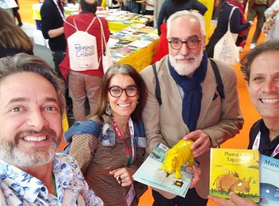 (Volnei Canônica, Mafalda Milhões, Javier Zabala e Roger Mello)