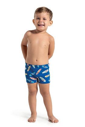 Sunga boxer com fator de proteção solar pranchas de surf - Coleção Quindim Dedek