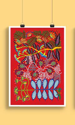 Gravura Jardins - Coleção Roger Mello