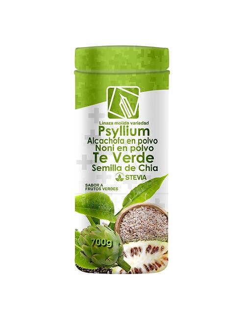Psyllium Alcachofa Noni y Te verde