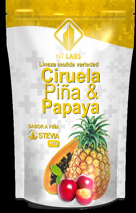 CIRUELA, PIÑA Y PAPAYA