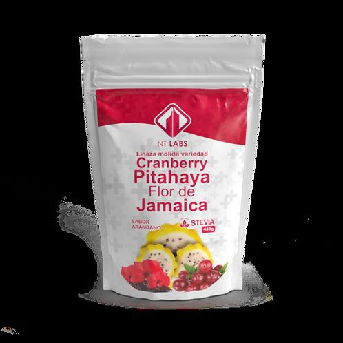 CRANBERRY, PITAHAYA, FLOR DE JAMAICA.
