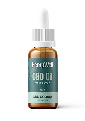 HempWell CBD Oil | 30ml Bottle | Natural