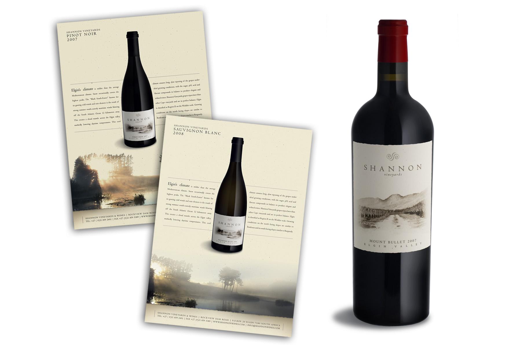 Shannon Vineyards Labels & Brochures