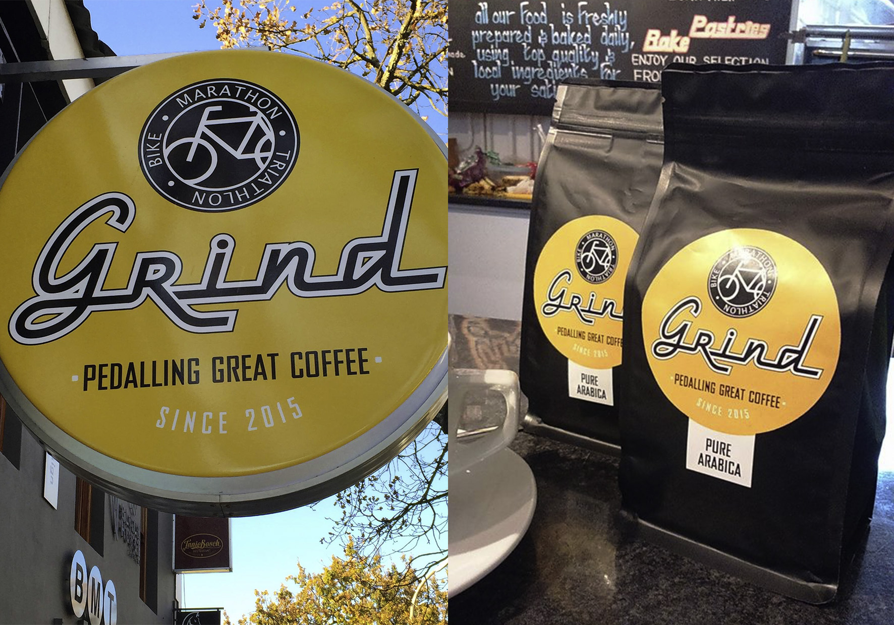BMT Grind Coffee - Signage & Labels