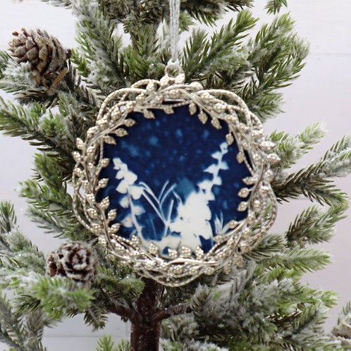Cyanotype Ornament 16