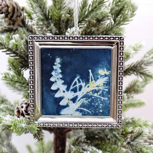 Cyanotype Ornament 9