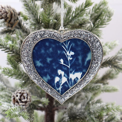Cyanotype Ornament 2