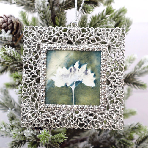 Cyanotype Ornament 4