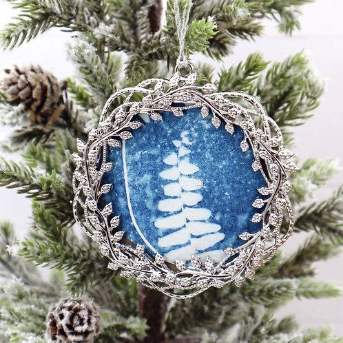 Cyanotype Ornament 12