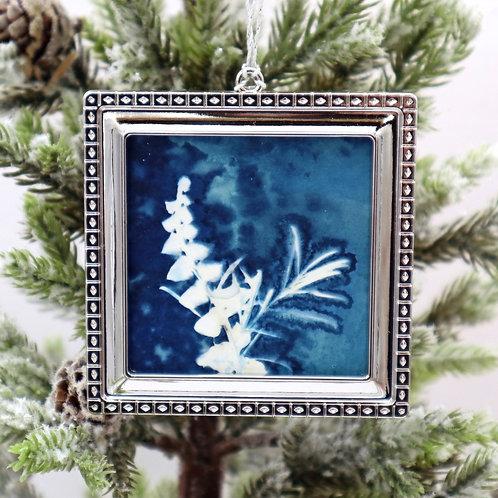 Cyanotype Ornament 6