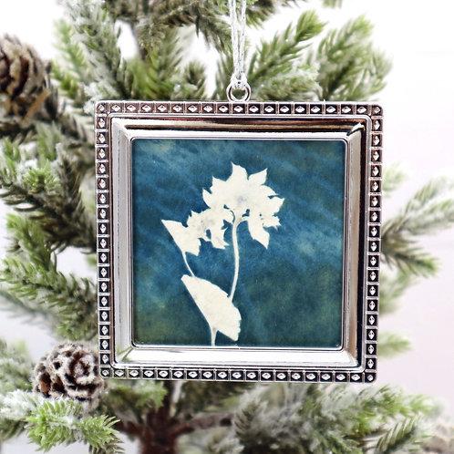 Cyanotype Ornament 10