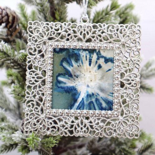 Cyanotype Ornament 3