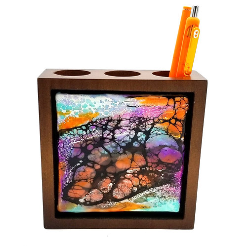 Colorful Web Pen holder/organizer