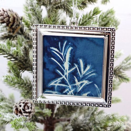 Cyanotype Ornament 11