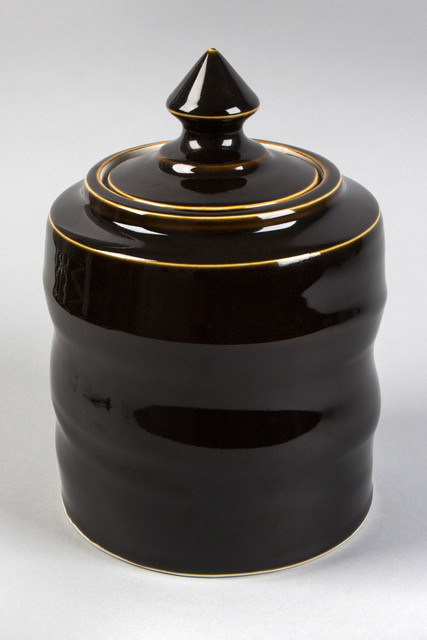 Tenmoku glaze Jar - SOLD