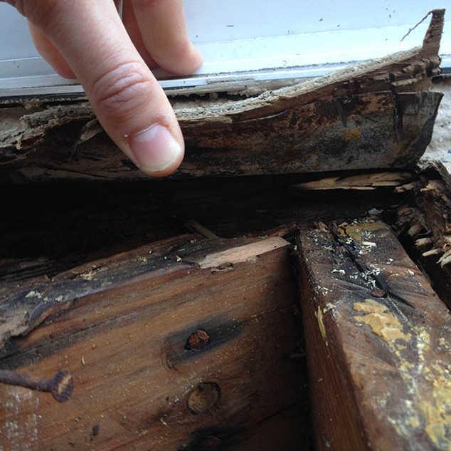 apartment balcony leak inspection