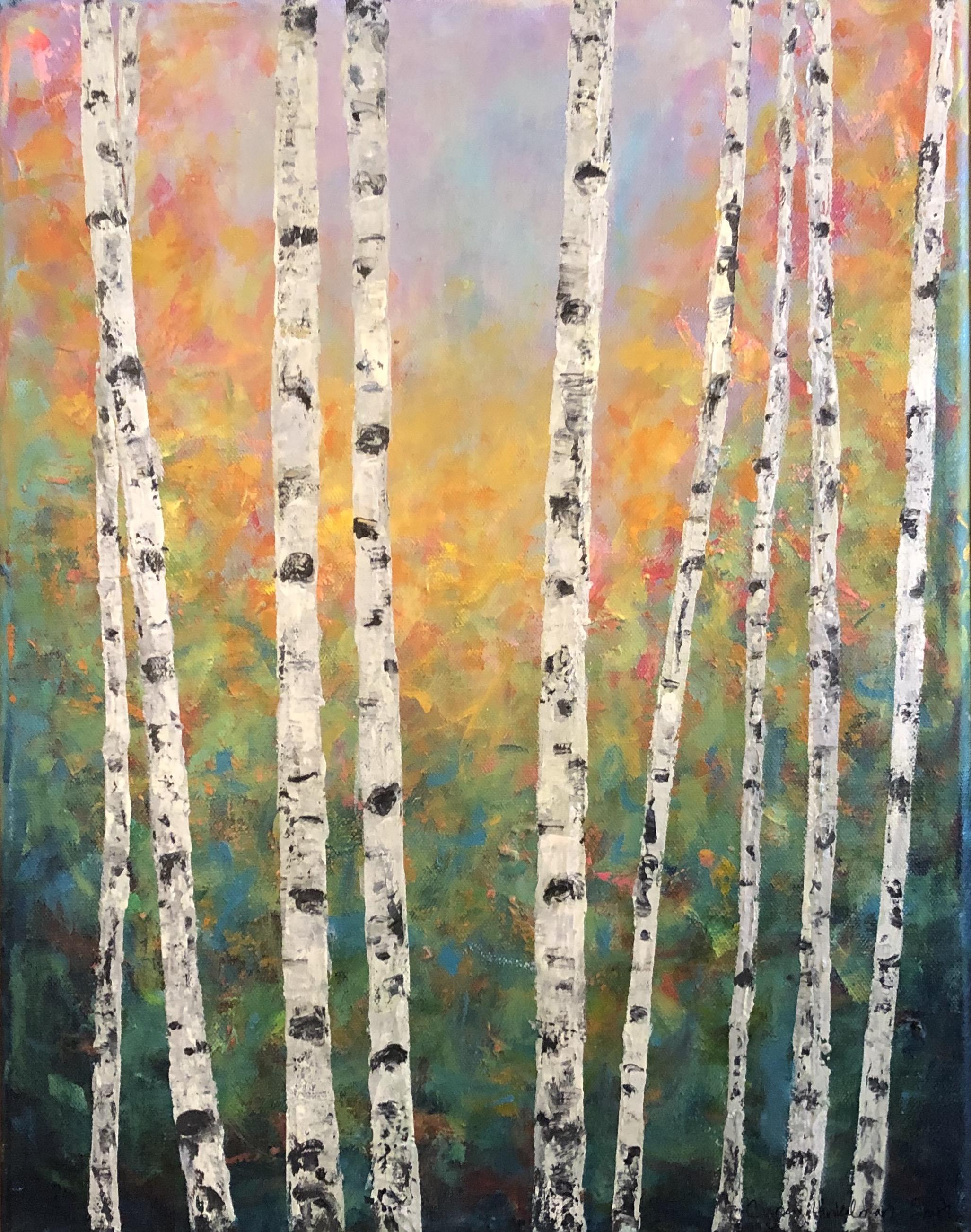 Spirited Aspens 14 x 18 (in birch frame) $300