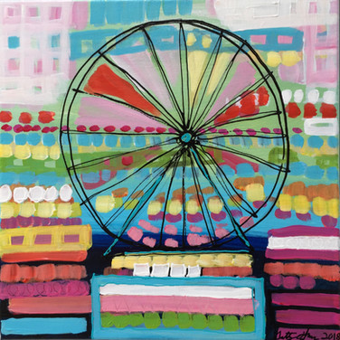 Ferris Wheel - Blue