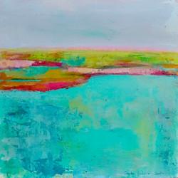 Bright Horizons  12 x 12 (in birch frame) $185