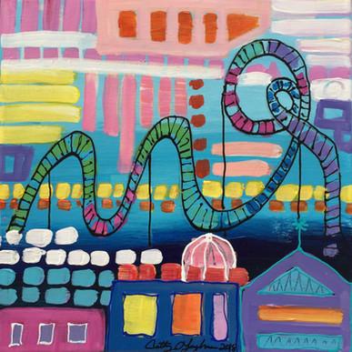Roller Coaster - Blue