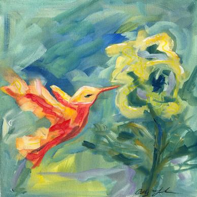 Humming Bird in Orange