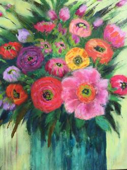 Bold Blooms 24 x 24 Acrylic $575