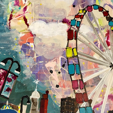 Ferris Wheel with Clouds