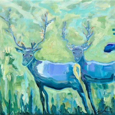 Two Blue Elk