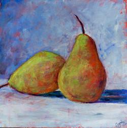 Two Pears 12 x 12 Acrylic $125